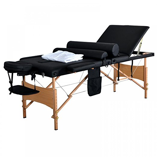 "New 84""L 3 Fold Massage Table Portable Facial Bed W/ Sheet Bolsters Carry Case 3"