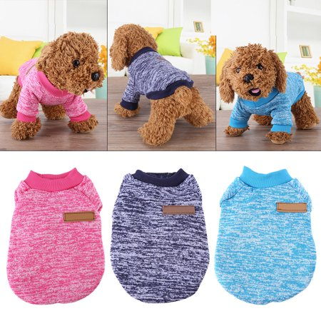 WALFRONT 3Colors 2Sizes Fashion Dog Cat Sweater  Coat Jacket Autumn & Winter Pet Clothes, Dog Clothes,Dog Sweater Dog Coats Winter Clothing