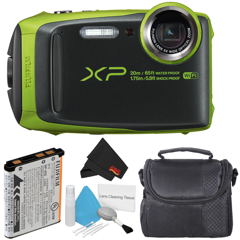 Fujifilm FinePix XP120 Waterproof Point & Shoot Digital Camera (Blue) Starter Bundle