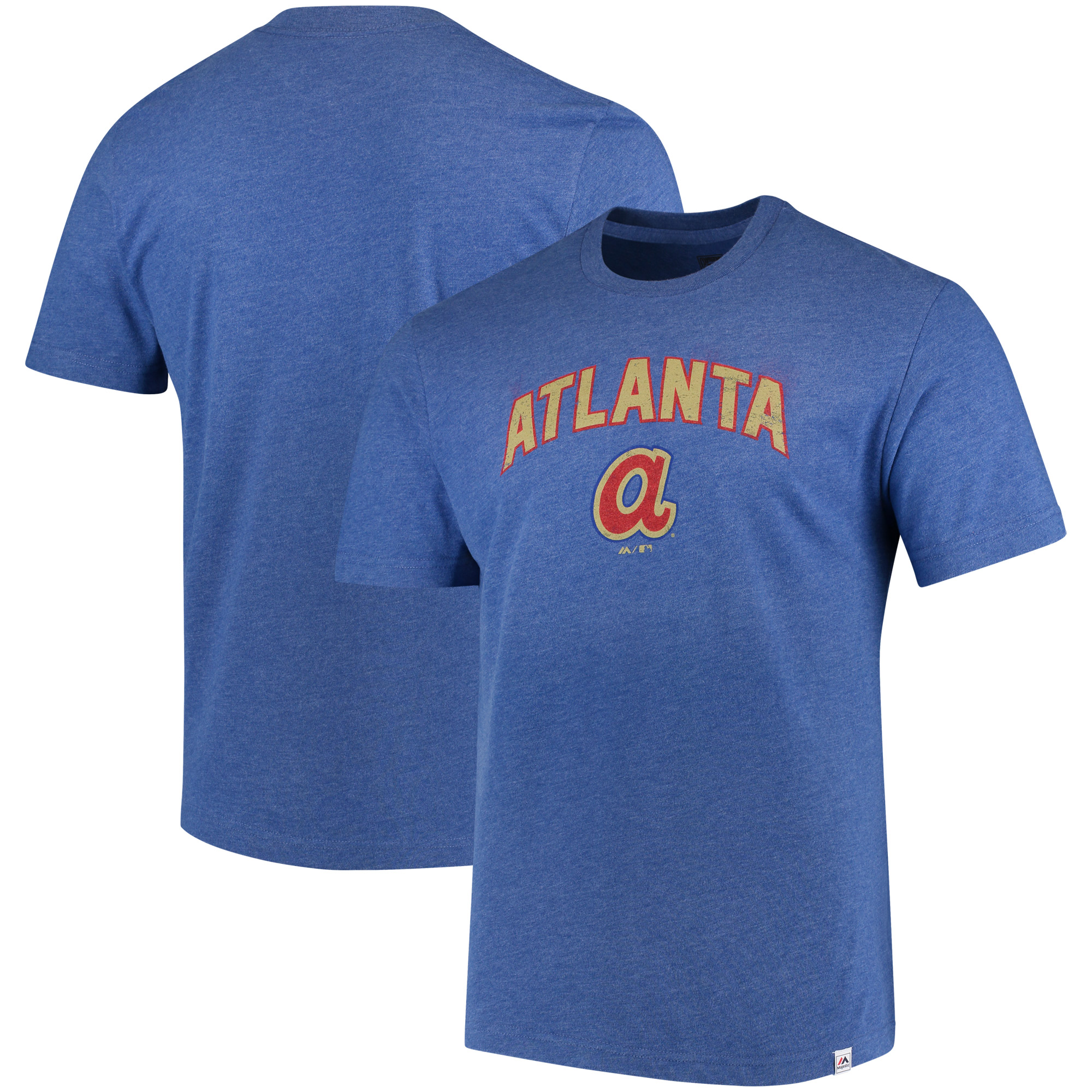 Atlanta Braves Majestic Cooperstown Collection Eephus Pitch Softhand T-Shirt - Royal
