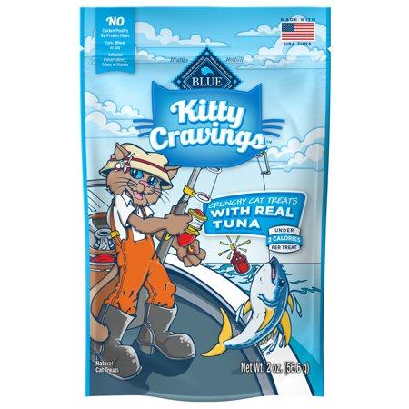 Kitty Treats Cookbook - Blue Buffalo Kitty Cravings Crunchy Cat Treats, Tuna Recipe, 2-oz bag