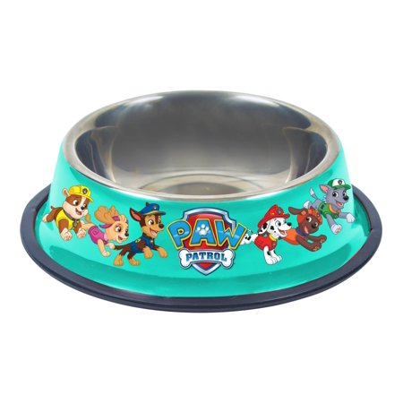 Paw Patrol .5L Stainless Steel Dog (Paw Prints Travel Bowl)