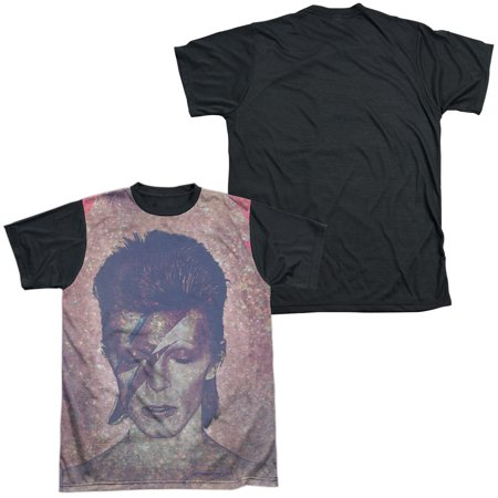 David Bowie Glam Mens Sublimation Shirt with Black