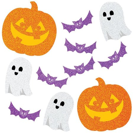 Creative Converting Glitter Halloween Cutouts, 12 ct (Creative Halloween Snacks For Toddlers)