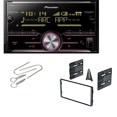 Ford Double Din Dash Kit With Pioneer MVH-X690BS Vehicle Digital Media 2DIN Receiver with Enhanced Audio Functions