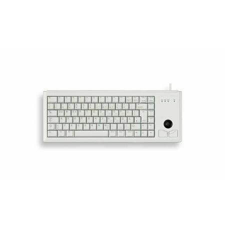Cherry Keyboard Trackball (Cherry 15″ Ultraslim USB Keyboard with Optical Trackball, Light Grey )