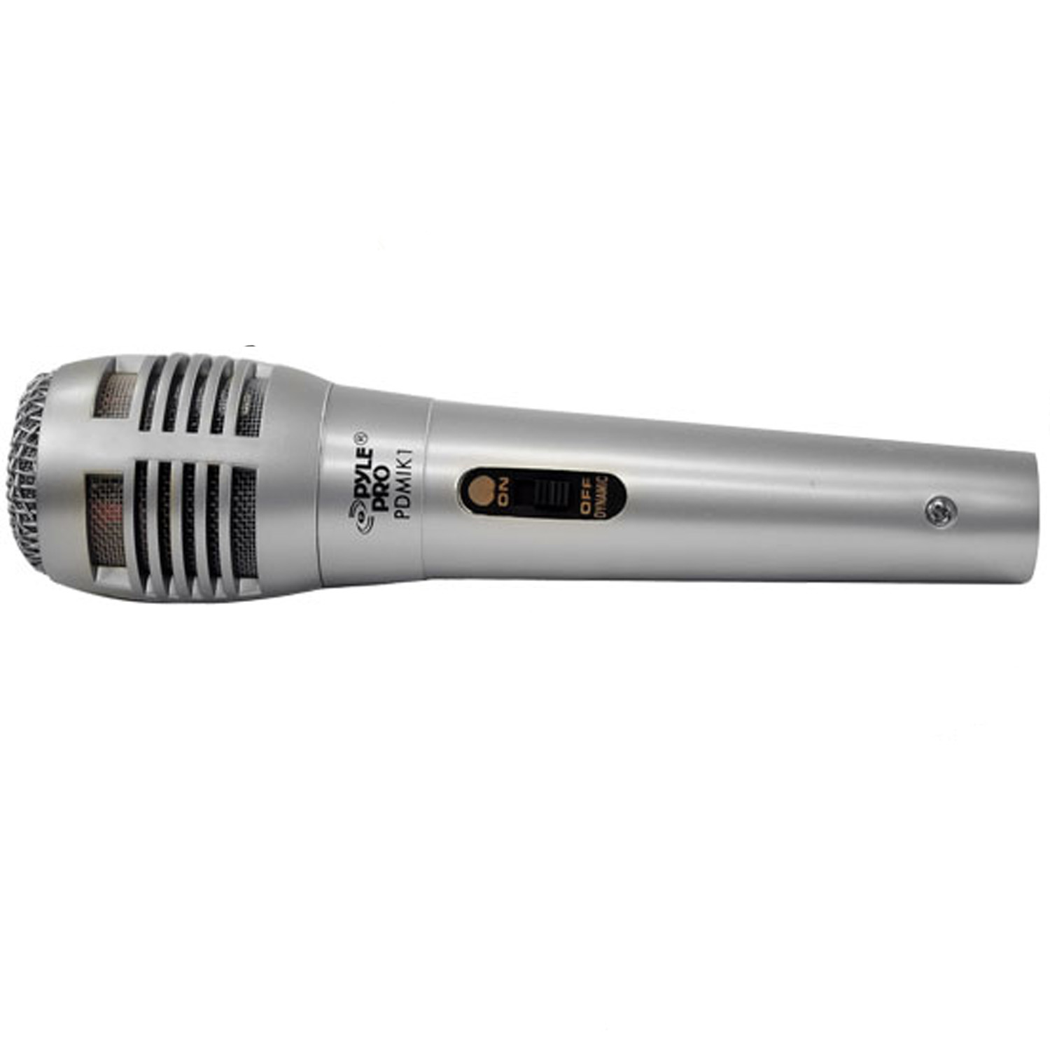 Pyle Professional Moving Coil Dynamic Handheld Microphone, Silver by Pyle