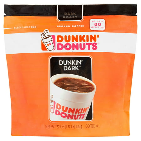 Dunkin' Donuts Dunkin' Dark Ground Coffee, 22 oz ()