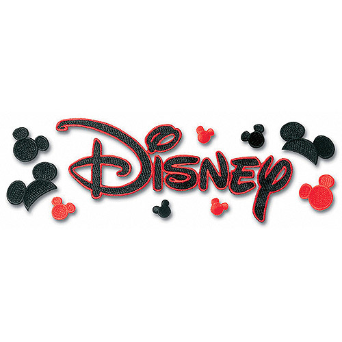 Disney Embroidered Stickers Multi-Colored