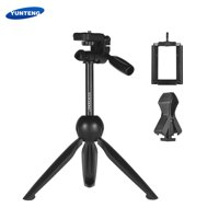 YUNTENG VCT-2280 Multi-function Mini Tabletop Tripod Live Streaming Tripod Microphone Holder with 1/4 Inch Screw for DSLR Camera 55-95mm Width Smartphone 20-40mm Diameter Microphone Max. Load 1.5kg