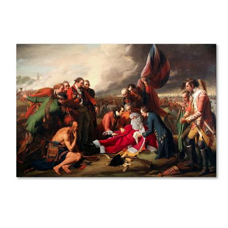 Trademark Fine Art 'West-Death Of General Wolfe' Canvas Art by Ed Wheeler Ed Hand Numbered Fine Art