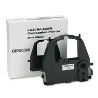 TallyGenicom LA30RKA Compatible Ribbon, Black