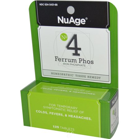 Hylands NuAge Tissue Salts Ferrum Phosphoricum 6X 125 Tablet, Pack of 2 ()