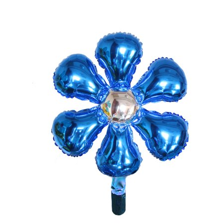 Foil Flower Shape Balloon Wedding Party Celebration Decor Blue Silver Tone - Flower Balloons