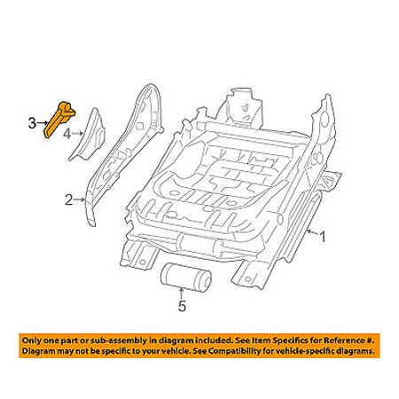 CHRYSLER OEM 11-14 200 Front Seat Track-Recline Handle Lever Right (200 Handle Center)