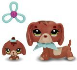 Littlest Pet Shop Figures Dachshund and Baby (Littlest Pet Shop Plush Toy)