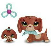 Littlest Pet Shop Dachshund & Baby Dachshund Figures