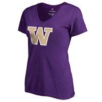Washington Huskies Fanatics Branded Women's Primary Logo T-Shirt - Purple