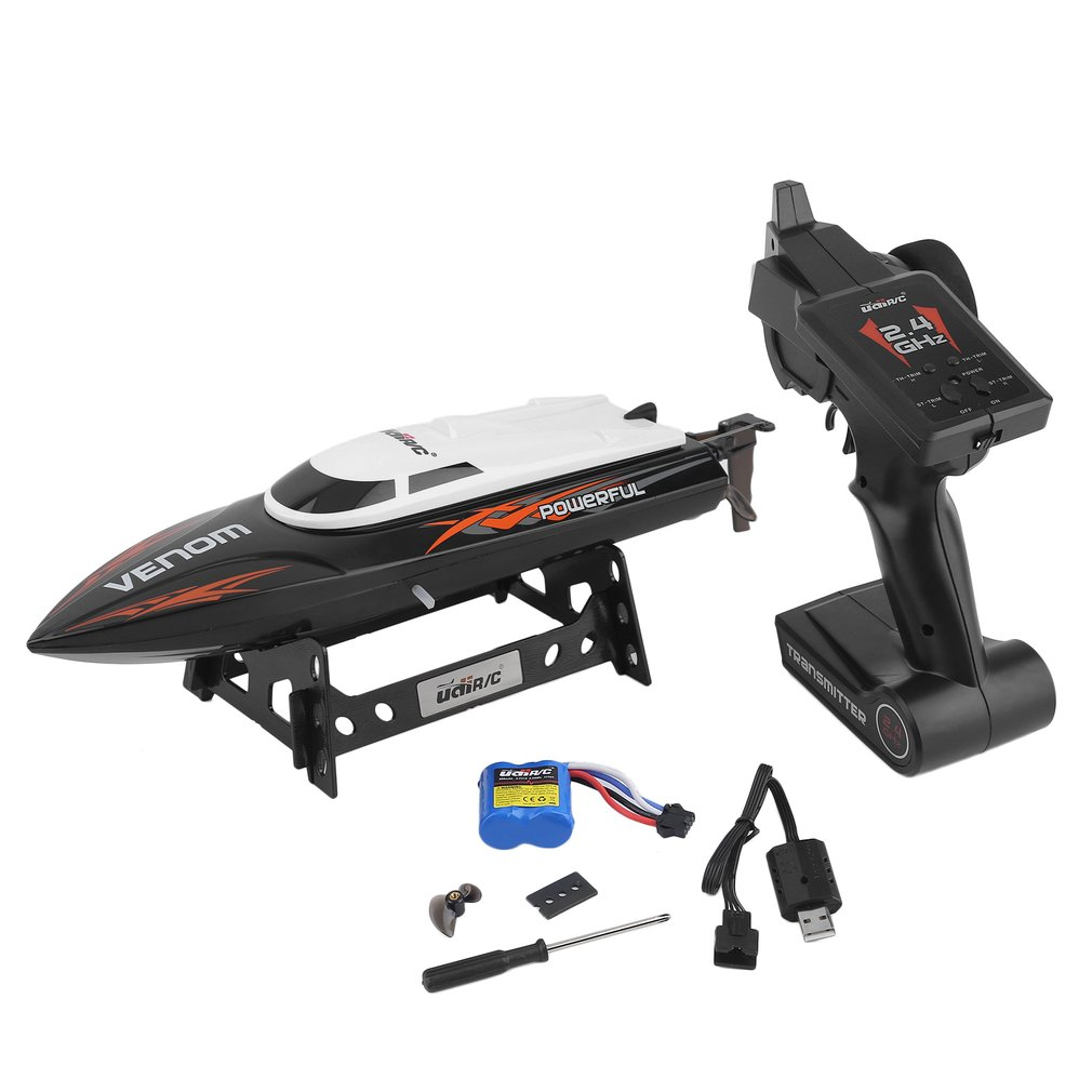 CNMODLE 2.4GHz High Speed Remote Control USB Boat Recharg...