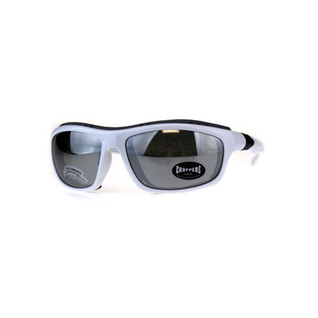 Windbreaker Motorcycle - Choppers Windbreaker Foam Pad Motorcycle Riding Goggle Sunglasses White Mirror