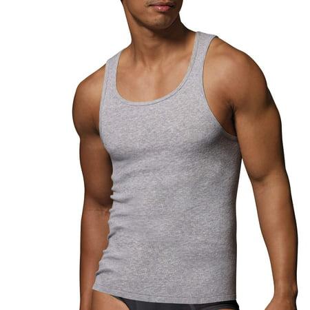 Men's Big & Tall ComfortSoft Tagless Tanks, 3 (Underwear Tank Top)