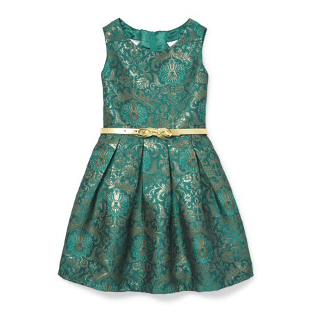 The Children's Place Floral Jacquard Holiday Dress (Little Girls & Big Girls)
