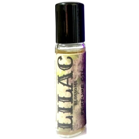 Lilac 10 ml Glass Roll on Bottle of Perfume Oil Old Antique Perfume Bottle