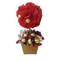 Red Rose Ferrero Rocher Topiary Gift Basket