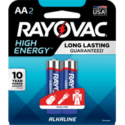 Rayovac High Energy Alkaline Batteries, Size AA Batteries, 2-Pack, 815-2K (Packaging may vary)