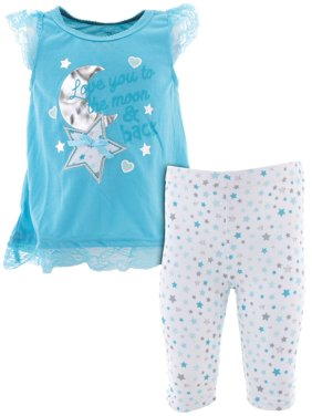 Duck Duck Goose Girls To The Moon Blue Pajamas