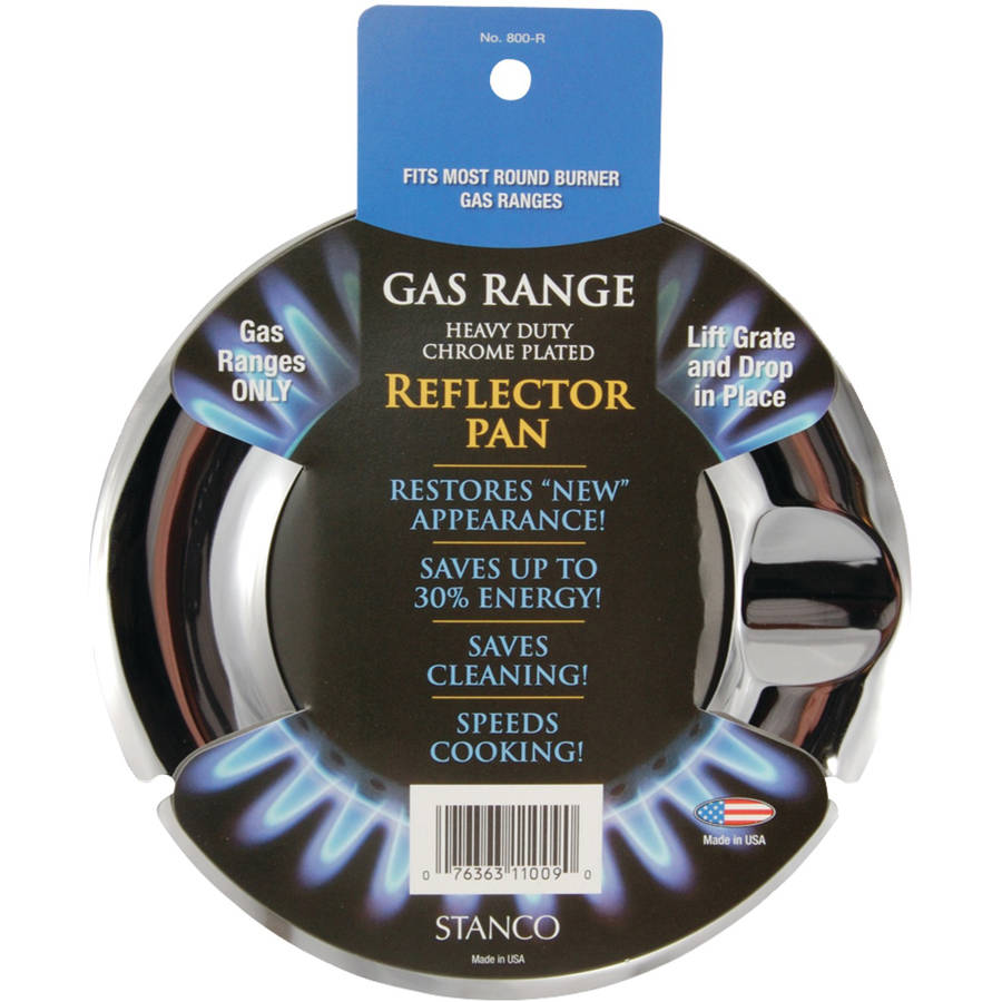 Stanco Chrome-Plated Steel Range Reflector Pan 7-1/4 in.