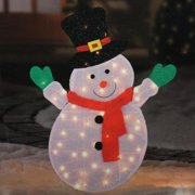northlight seasonal lighted winter snowman with top hat outdoor christmas yard art decoration