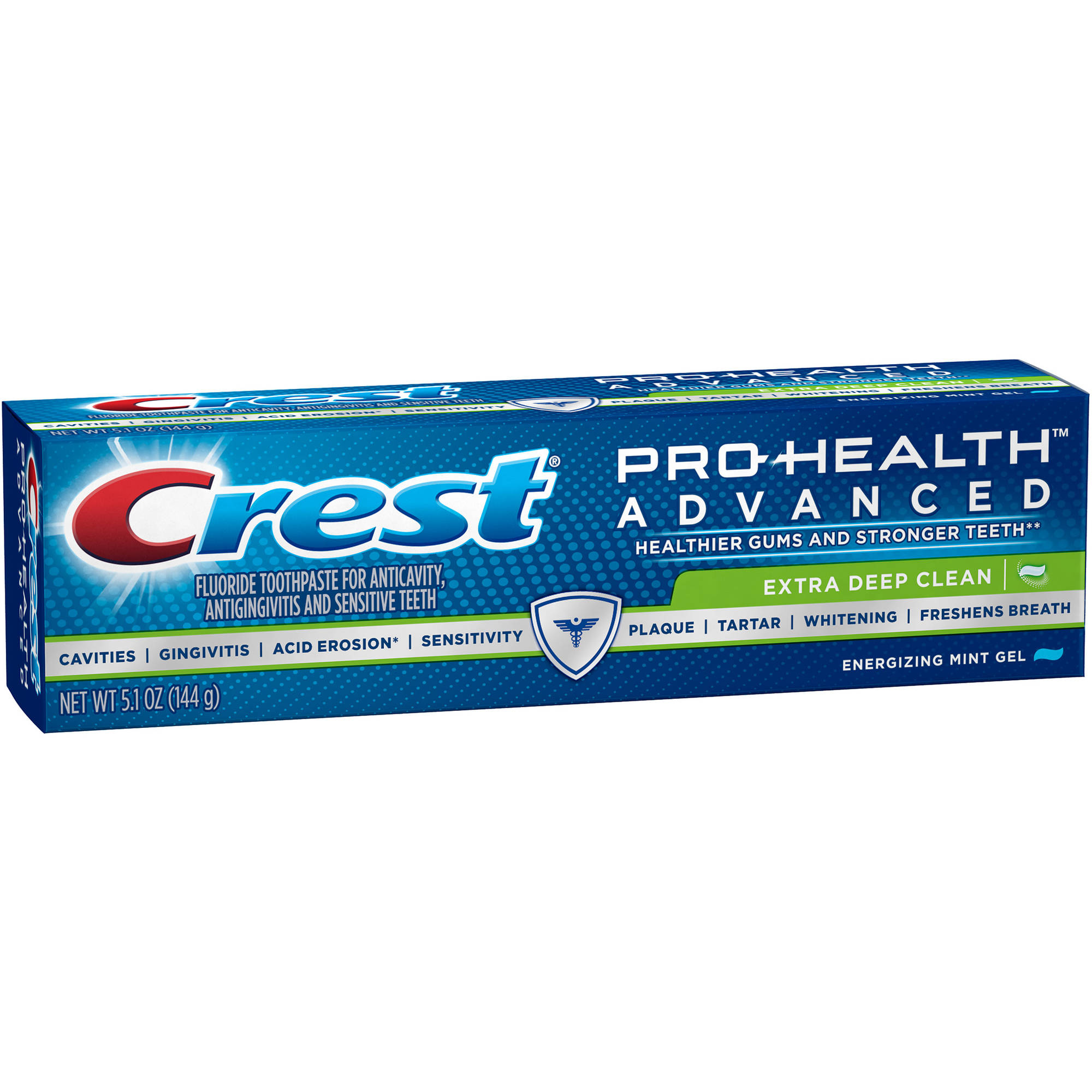 Crest Pro-Health Advanced Extra Deep Clean Energizing Mint Gel Extra Deep Clean Toothpaste, 5.1 oz