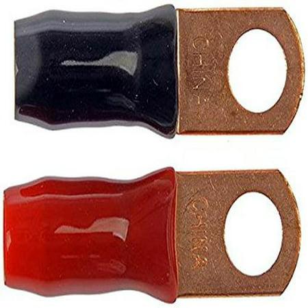 "Dorman 86184 3/8"" 2-Gauge Copper Ring Lug with Insulation"
