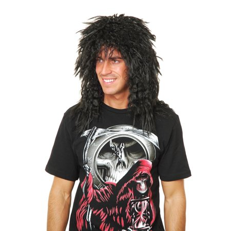 Halloween Heavy Metal Rocker Wig - Halloween Theme Heavy Metal