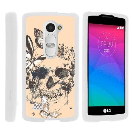 LG Leon C40, Sunset L33L, Tribute 2 LS665, [SNAP SHELL][White] Hard White Plastic Case with Non Slip Matte Coating with Custom Designs - Fruity Rose