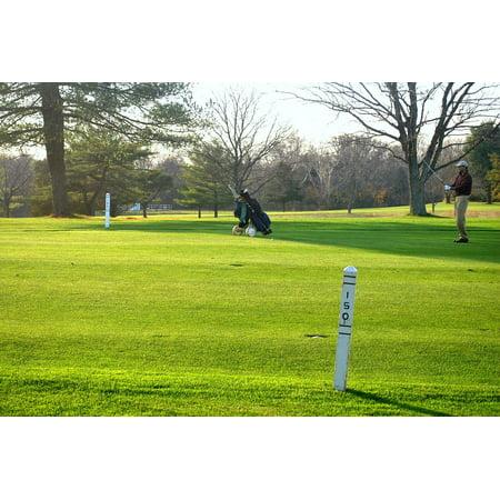 - LAMINATED POSTER Course Distance Golf Golfer Yard Fairway Marker Poster Print 24 x 36