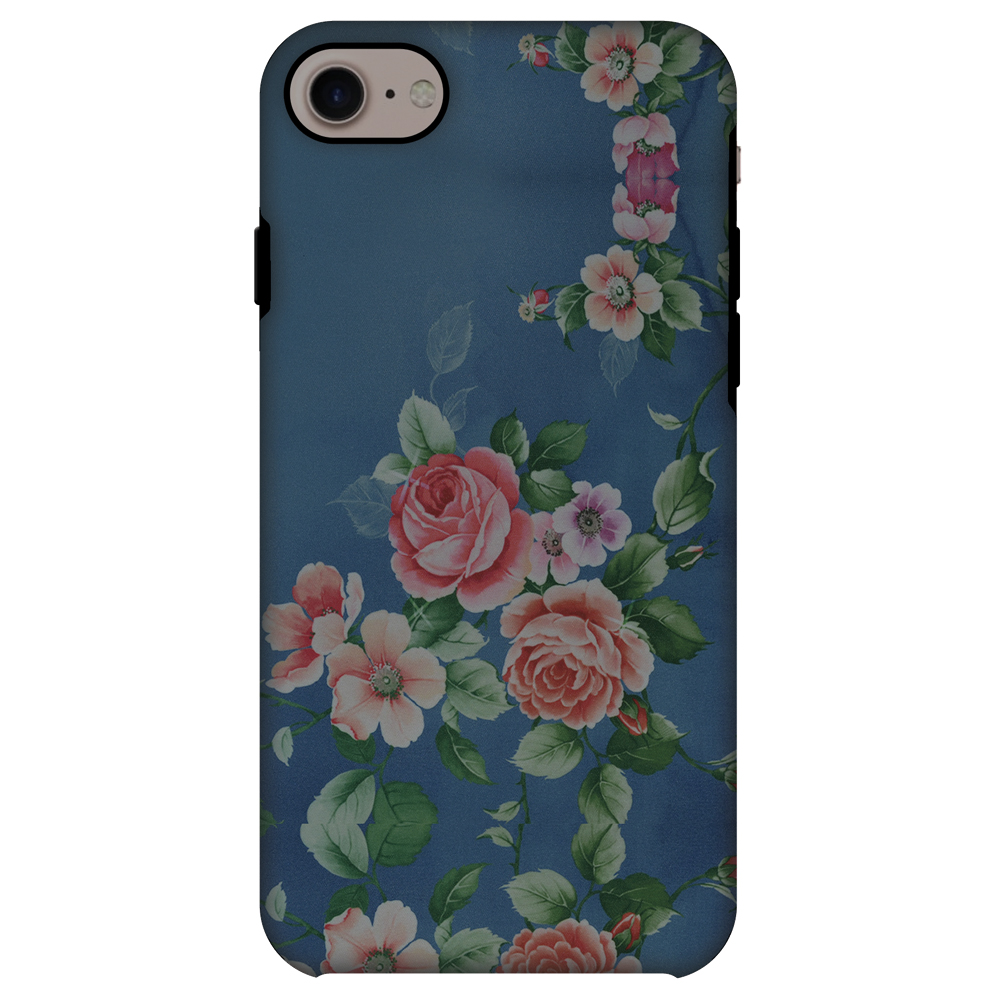 iPhone 7 Case, Premium 2 in 1 Slim Fit Handcrafted Printed Designer ShockProof Heavy Duty Protection Case Back Cover for Apple iPhone 7 - Rose Print Provencal