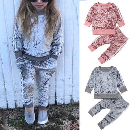 Baby Tracksuit (Toddler Kids Baby Girl Infant Clothes T-shirt Top Pants Outfit Sets Tracksuit )