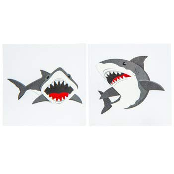 Shark Party Tattoos Birthday Favor Party Supplies Kids Party 30 Tattoos](Party City 30 Birthday)
