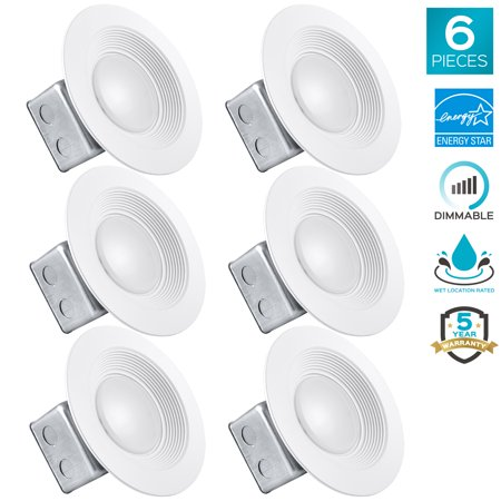 luxrite 5 6 inch led recessed light with junction box 15w 4000k