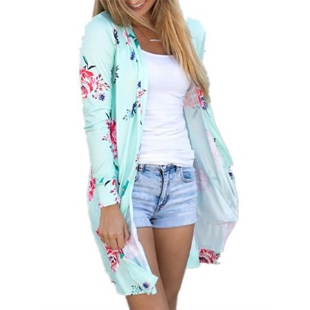 Autumn Women Printed Casual Cardigan Tops