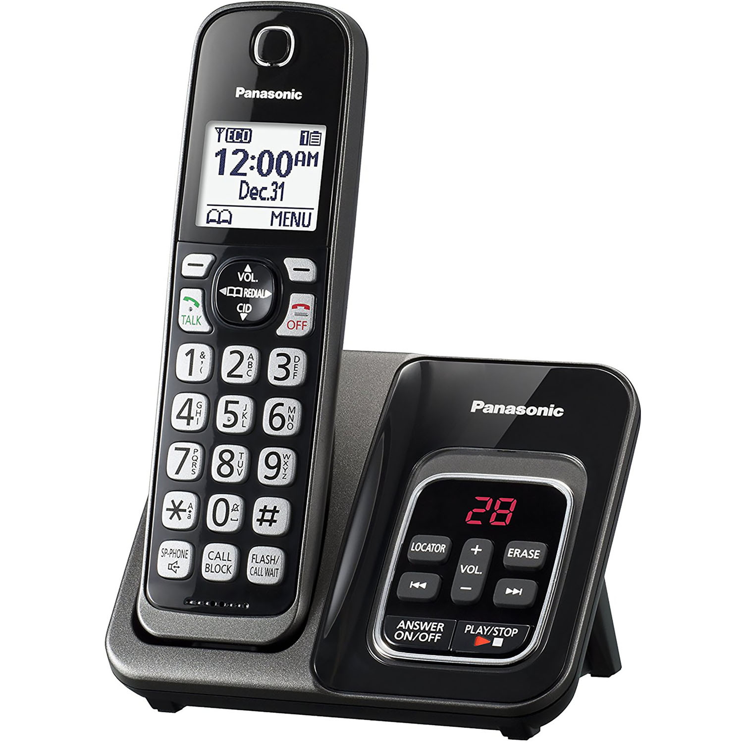 Panasonic Expandable Cordless Phone with Call Block and Answering Machine