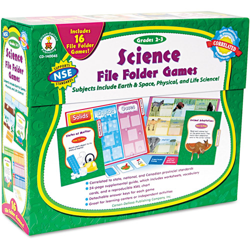 Carson-Dellosa Publishing Science File Folder Game, Grades 2-3