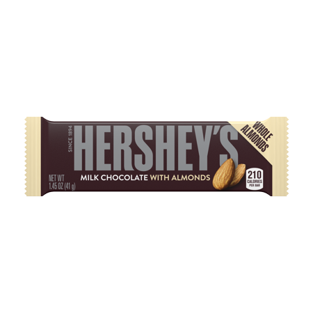 Hersheys, Milk Chocolate with Almonds Bar, 1.45 Oz