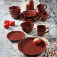 Mainstays Red Rainforest 16-Piece Dinnerware Set