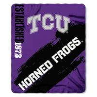 """NCAA TCU Horned Frogs 50"""" x 60"""" Fleece"""