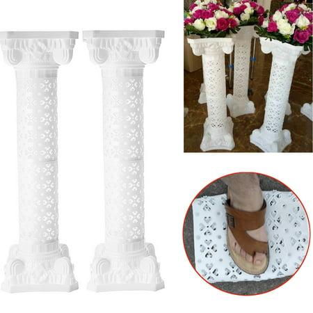 "Plastic Roman Columns (Moaere 4Pcs/2Pcs Plastic Roman Pillar Column Pedstal Stand Flower Floral Wedding Road Lead 39"")"