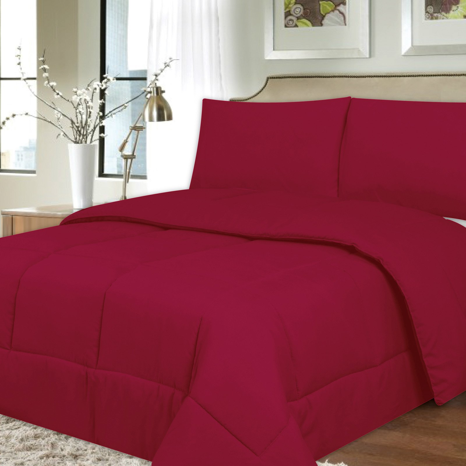 Down Alternative Box Stitch Comforter by Sweet Home Collection