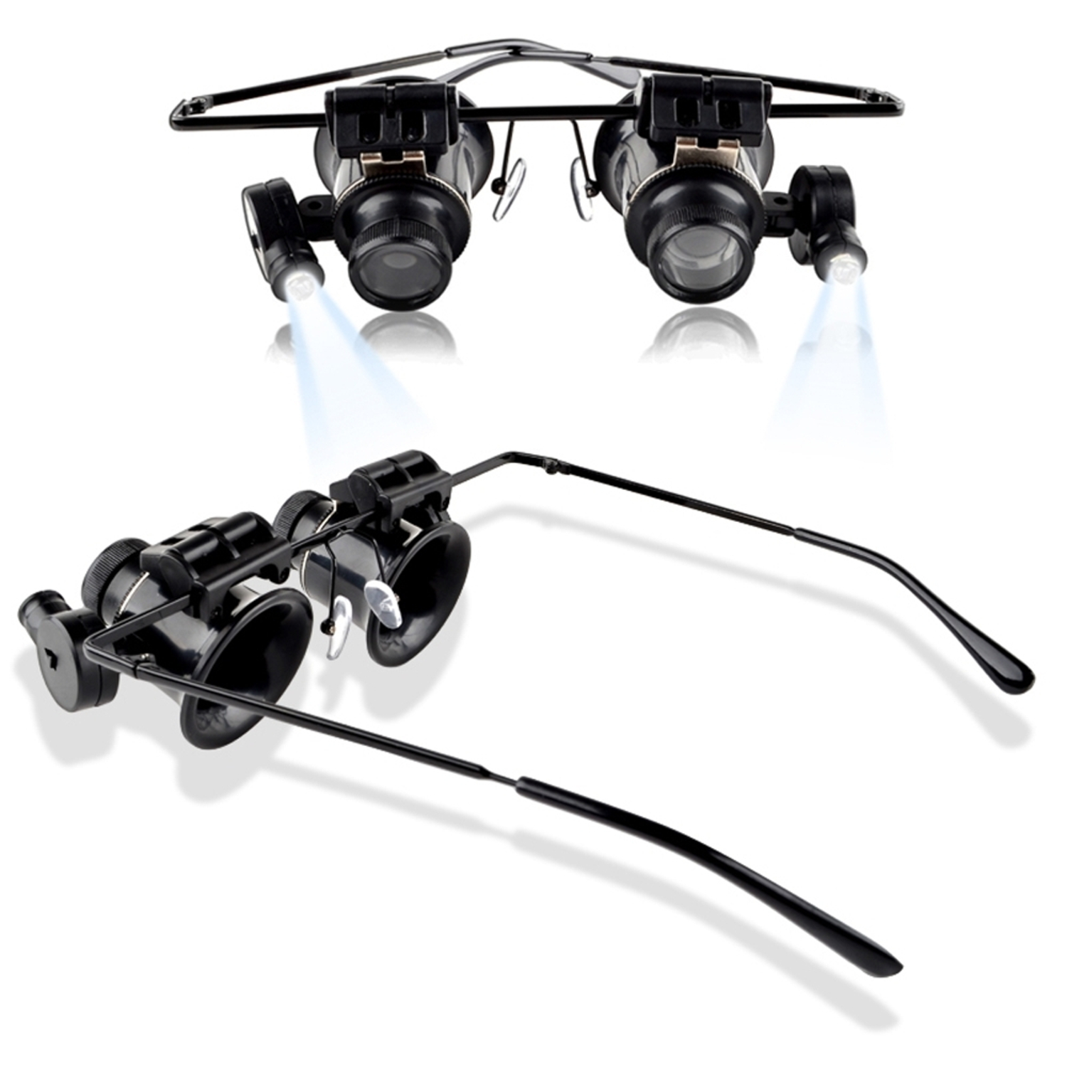 Insten 20X Magnifier Magnifying LED Light Glasses Type Eye Glass Loupe for Watch Repair Jeweler Jewelry Appraisal